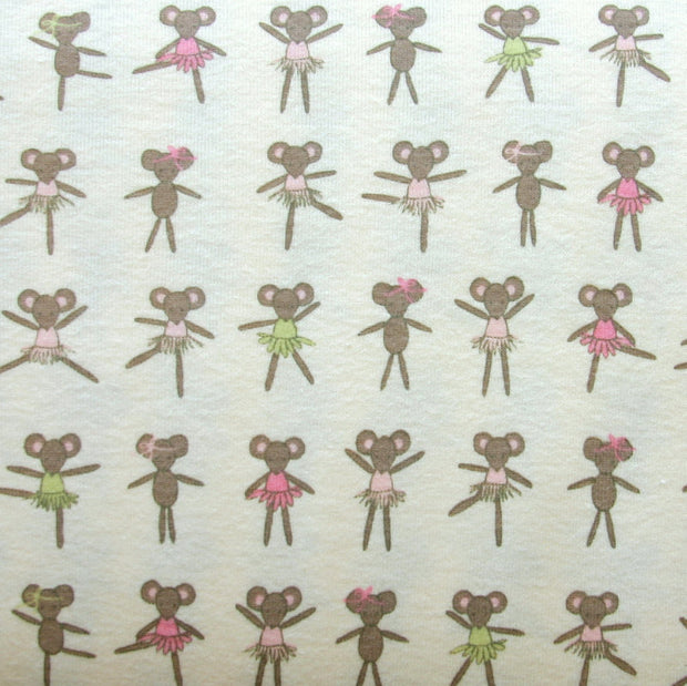 Ballet Mice Cotton Knit Fabric
