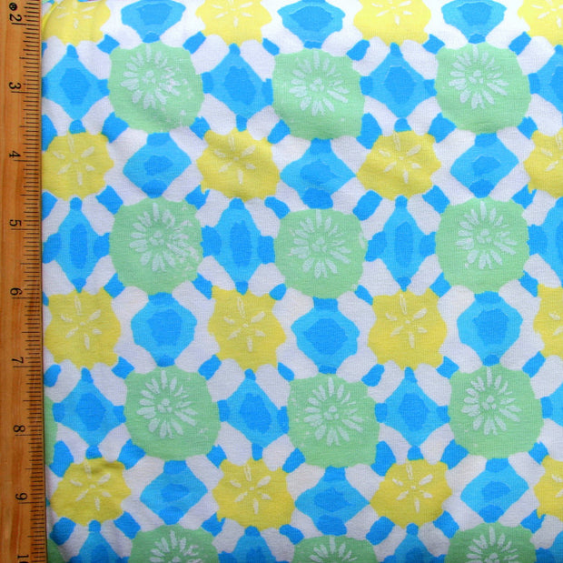 Beach Comber Cotton Lycra Knit Fabric by Fresh Produce