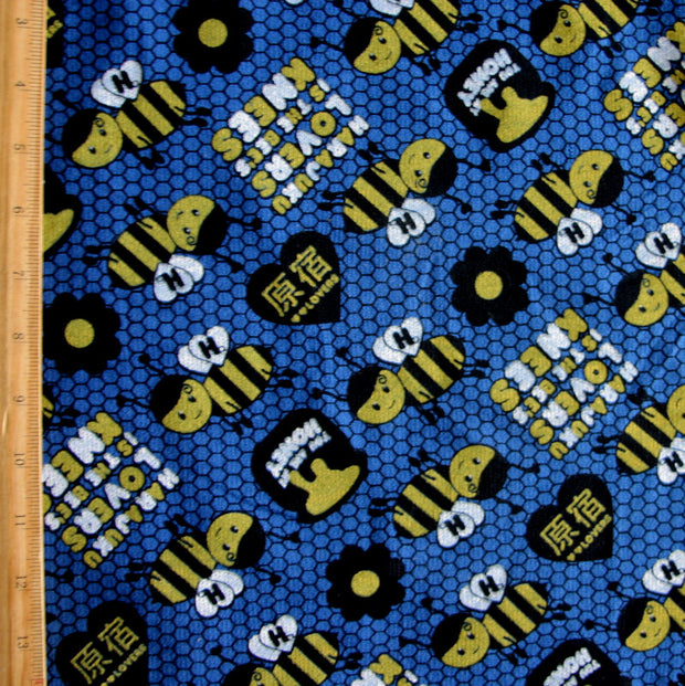Bee's Knees Cotton French Terry Knit Fabric