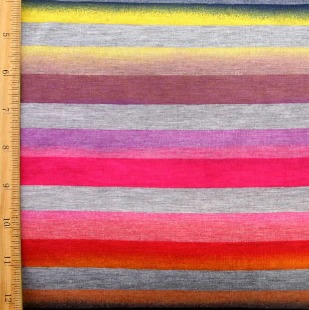 Bittersweet Rainbow Stripes Knit Fabric