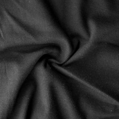 Black Heavy Cotton Interlock Knit Fabric