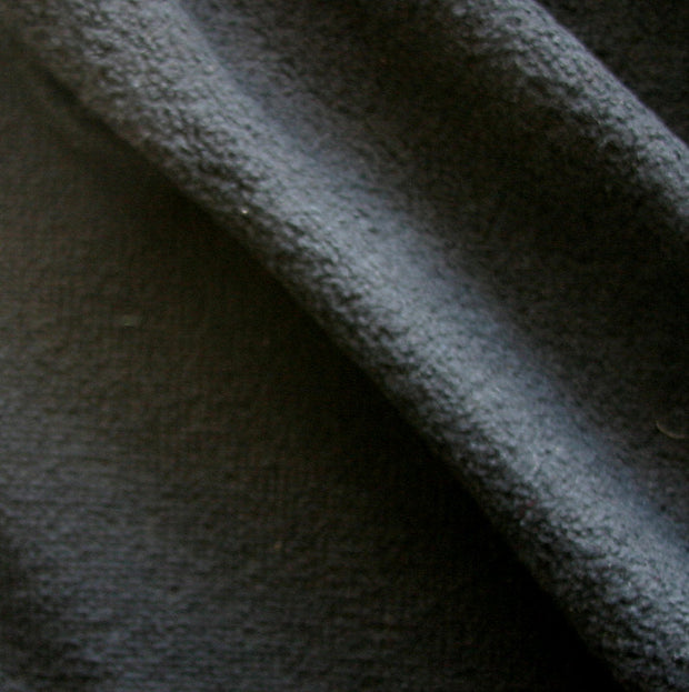 Black Recycled Cotton Poly Fleece Fabric