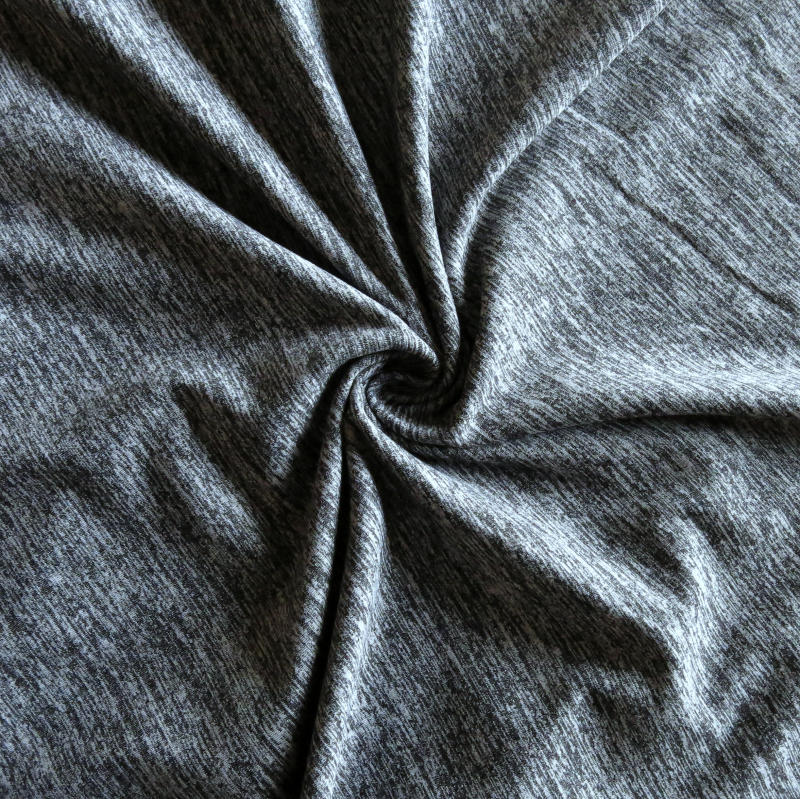 48115df4c02 Black Heathered Marl Poly Lycra Jersey Knit Fabric – The Fabric Fairy