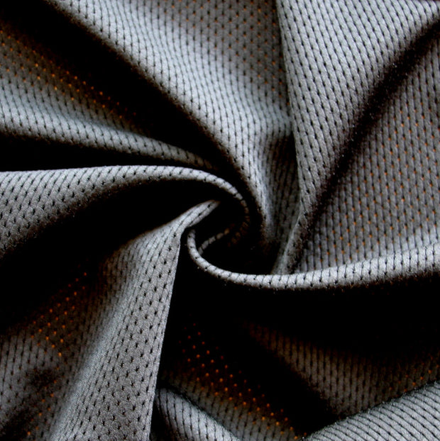 Black Dri-Fit Looped Back Nylon Lycra Mesh Fabric
