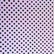 Black Polka Dots on Ballet Pink Nylon Spandex Swimsuit Fabric
