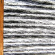 Black Shaky Stripe Nylon Spandex Swimsuit Fabric
