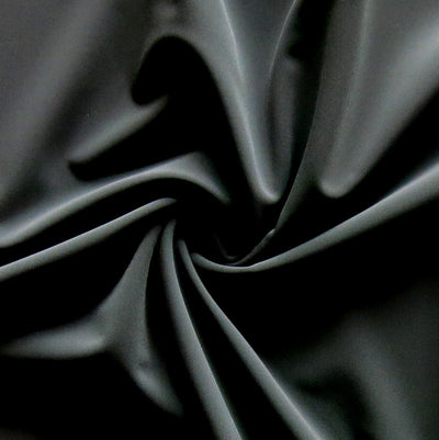 Classic Black Nylon Spandex Swimsuit Fabric - 15 Yard Bolt