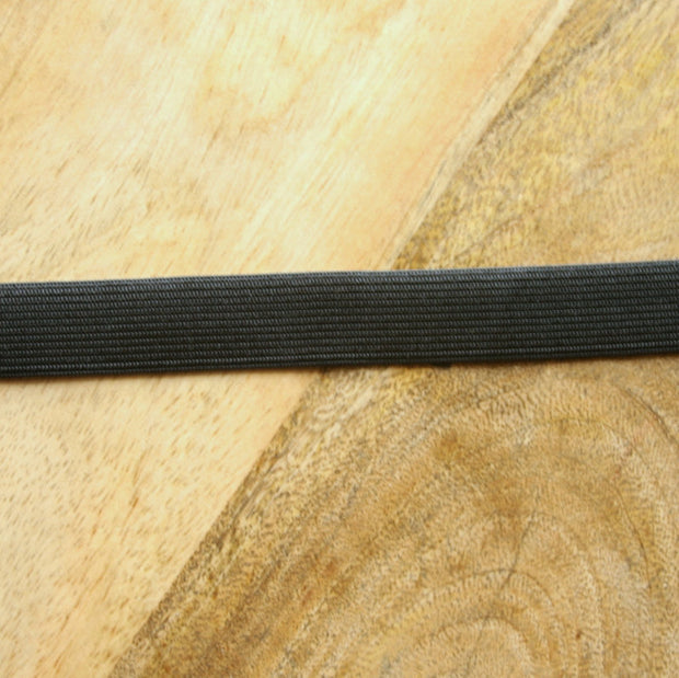 "Black 3/4"" Wide Swimsuit Elastic"