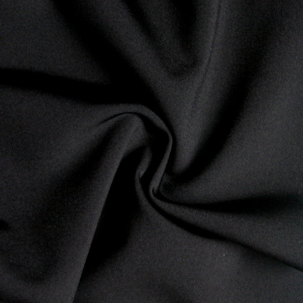 Shiny Black Nylon Lycra Swimsuit Fabric