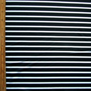 Black Thick and White Thin Stripes Nylon Lycra Swimsuit Fabric