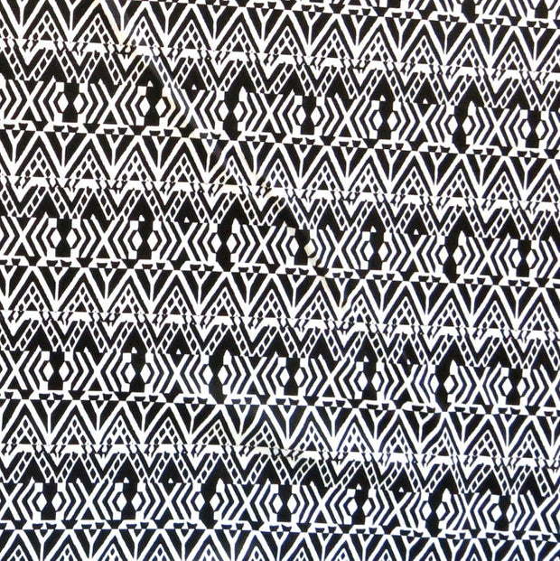 Black Triangle Abstract Nylon Spandex Swimsuit Fabric