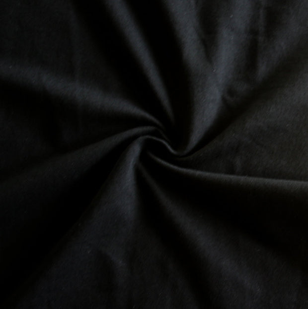 Black Bamboo Organic Cotton Spandex Jersey Knit Fabric
