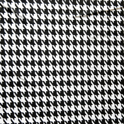 Shiny Houndstooth Nylon Spandex Swimsuit Fabric