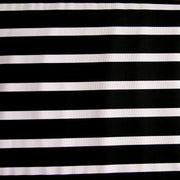 Black/White Twin Positive Stripes Nylon Lycra Swimsuit Fabric