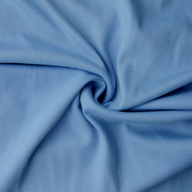 Light Blue Cotton Interlock Fabric