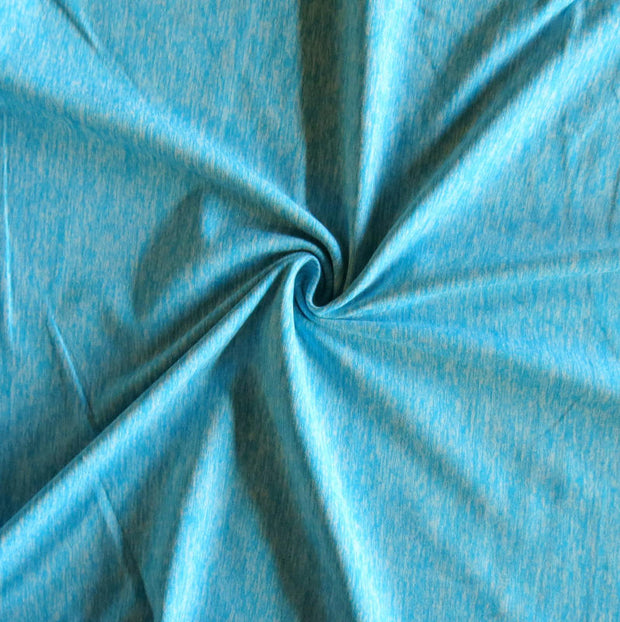 Blue Fizz Marl Poly Lycra Jersey Knit Fabric