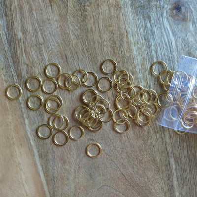 3/8 inch Gold Bra Rings