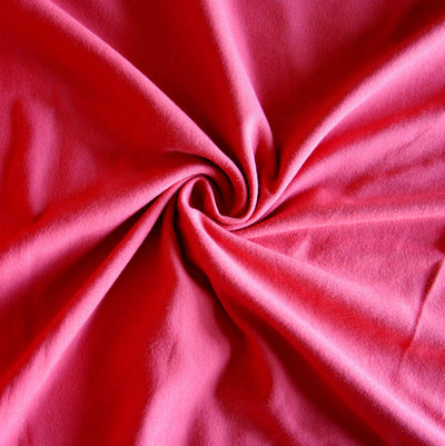 Brick Red Cotton Lycra Jersey Knit Fabric