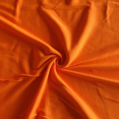 Bright Orange 2x1 Cotton Rib Knit Fabric