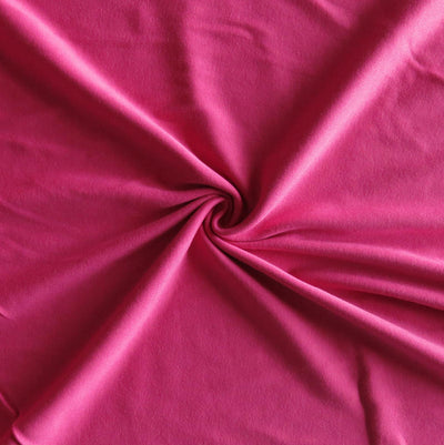 Bright Pink Cotton Rib Knit Fabric