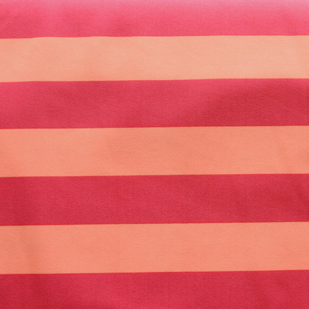 "Pink and Peach 1"" Stripe Nylon Lycra Swimsuit Fabric"