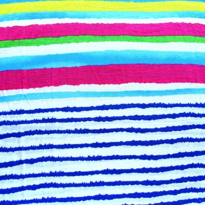 Bright Stripe Rayon Jersey Knit Fabric