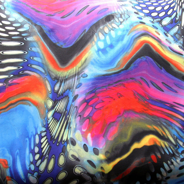 Bright Pool Swirl Nylon Spandex Swimsuit Fabric