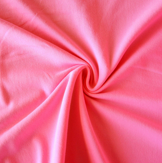 Bubblegum Pink Cotton Lycra Jersey Knit Fabric