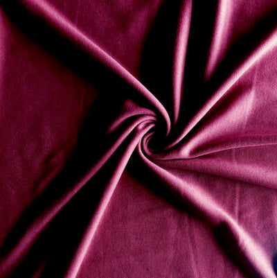 Burgundy Cotton Interlock Fabric