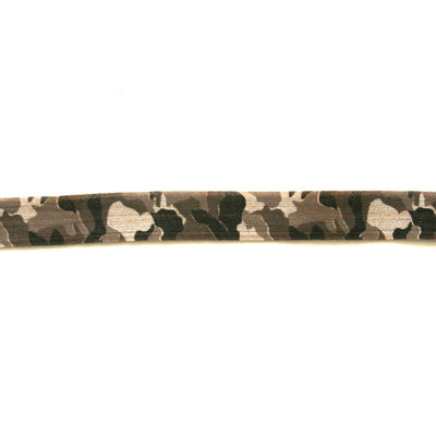 Camoflauge Fold Over Elastic, Tan Background