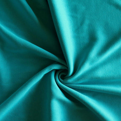 Caribbean Blue Cotton Heavy Rib Knit Fabric