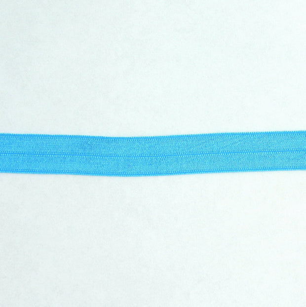 Caribbean Blue Fold-Over Elastic Trim