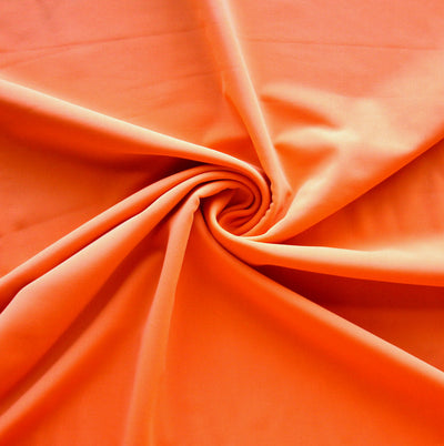 Orange Nylon Spandex Swimsuit Fabric