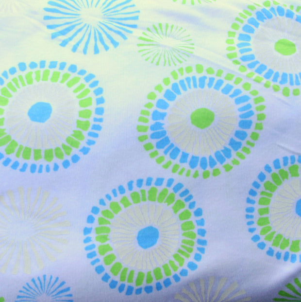 Chain Daisy Cotton Knit Fabric by Fresh Produce