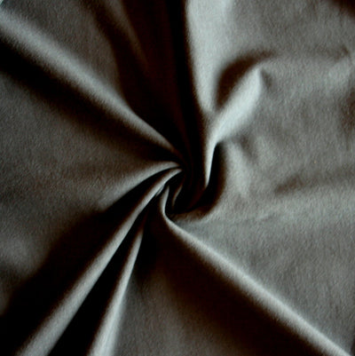 Charcoal Bamboo Cotton Lycra French Terry Fabric