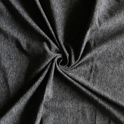 Charcoal/Black Eclat Marl Poly Spandex Jersey Knit Fabric