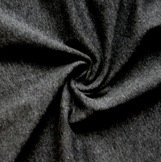 Charcoal 10 oz. Cotton Lycra Jersey Knit Fabric
