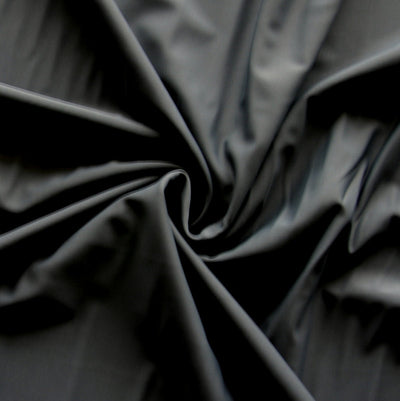 Gun Metal Grey Poly Spandex Swimsuit Fabric