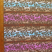 Cheetah Stripes Nylon Spandex Swimsuit Fabric