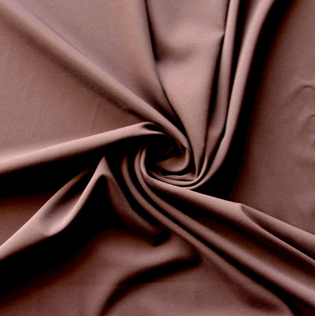 Chocolate Brown Stretch Woven Fabric