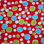 Christmas Bubble Dots Cotton Lycra Knit Fabric