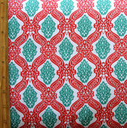 Holiday Damask Cotton Knit Fabric