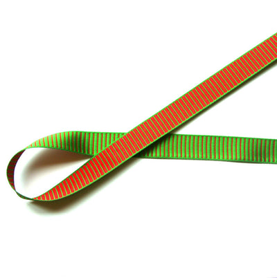 Christmas Stripes Reversible Woven Ribbon Trim