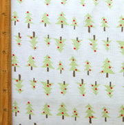 Little Christmas Trees Cotton Knit Fabric