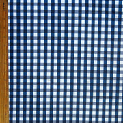 Classic Navy and White Gingham Nylon Spandex Swimsuit Fabric