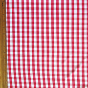 Classic Red and White Gingham Nylon Spandex Swimsuit Fabric