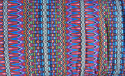 Colorful Vertical Mosaic Stripe Nylon Spandex Swimsuit Fabric