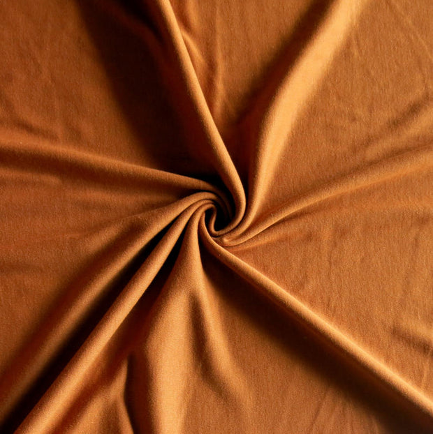 Copper Penny Cotton Interlock Fabric