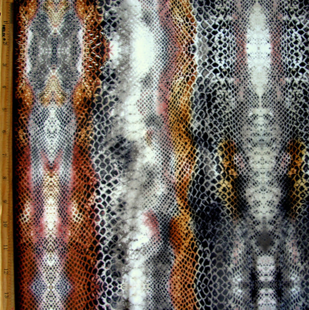 Copper Python Nylon Lycra Swimsuit Fabric