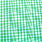 Country Plaid Green Nylon Lycra Swimsuit Fabric